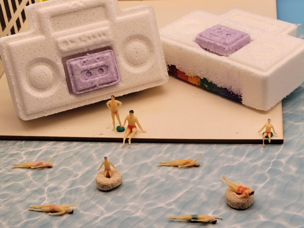 The Ghost Generation Rainbow Boombox Bath Bomb Product Photography